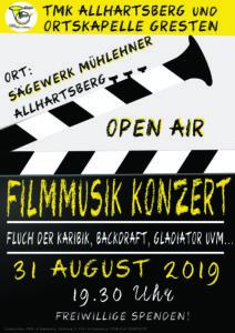 Filmmusik Konzert der TMK Allhartsberg und Ortskapelle Gresten