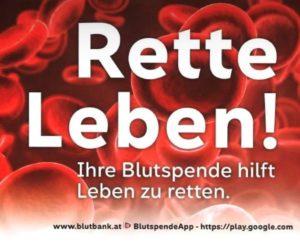 Herzliche Einladung zur Blutspendeaktion 2021